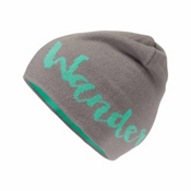 The North Face Anders Beanie Kids Hat, Metallic Silver-Bermuda Green, medium