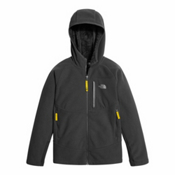 The North Face Chimborazo Kids Hoodie, Graphite Grey-Canary Yellow, medium