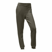 The North Face French Terry Womens Pants, Burnt Olive Green Heather-Asph, medium