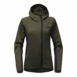 The North Face Arcata Hoodie Womens Jacket, New Taupe Green-TNF Black, 256