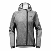 The North Face Arcata Hoodie Womens Jacket, TNF Medium Grey Heather-TNF Bl, medium