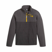 The North Face Glacier 1/4 Zip Kids Midlayer, TNF Dark Grey Heather, medium