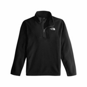 The North Face Glacier 1/4 Zip Kids Midlayer, TNF Black-TNF Black, medium