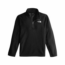 The North Face Glacier 1/4 Zip Kids Midlayer, TNF Black-TNF Black, 256