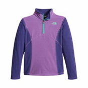 The North Face Glacier 1/4 Zip Girls Kids Midlayer, Bellflower Purple, medium