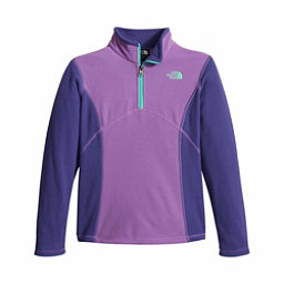 The North Face Glacier 1/4 Zip Girls Kids Midlayer, Bellflower Purple, 256