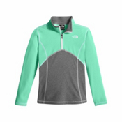 The North Face Glacier 1/4 Zip Girls Kids Midlayer, Bermuda Green, medium