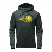 The North Face Surgent Half Dome Pullover Mens Hoodie, Darkest Spruce Heather-Acid Ye, medium