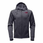 The North Face Surgent LFC Full Zip Mens Hoodie, TNF Medium Grey Heather-TNF Re, medium