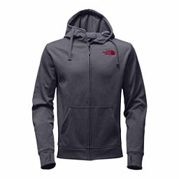 The North Face Surgent LFC Full Zip Mens Hoodie, TNF Medium Grey Heather-TNF Re, 256