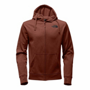 The North Face Surgent LFC Full Zip Mens Hoodie, Ketchup Red Heather-Asphalt Gr, medium