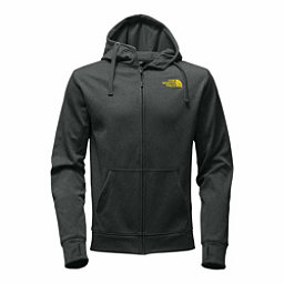 The North Face Surgent LFC Full Zip Mens Hoodie, Darkest Spruce Heather-Acid Ye, 256