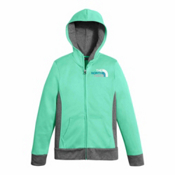 The North Face Surgent Full Zip Kids Hoodie, Bermuda Green, medium