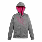 The North Face Surgent Full Zip Kids Hoodie, TNF Medium Grey Heather, medium