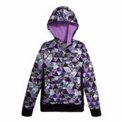 The North Face Surgent Full Zip Kids Hoodie, Bellflower Purple Triangle Pri, medium