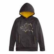 The North Face Surgent Pullover Kids Hoodie, Graphite Grey, medium