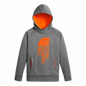 The North Face Surgent Pullover Kids Hoodie, TNF Medium Grey Heather-Power, medium
