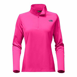 The North Face Tech Glacier 1/4 Zip Womens Mid Layer, Petticoat Pink, 256