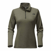 The North Face Tech Glacier 1/4 Zip Womens Mid Layer, New Taupe Green Heather, medium