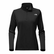 The North Face Tech Glacier 1/4 Zip Womens Mid Layer, TNF Black, medium