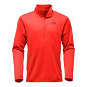 The North Face Tech Glacier 1/4 Zip Mens Mid Layer, Centennial Red, medium