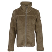 The North Face Campshire Full Zip Womens Jacket, Burnt Olive Green, medium