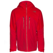 The North Face Powder Guide Mens Insulated Ski Jacket, Centennial Red, medium