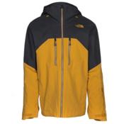 The North Face Powder Guide Mens Insulated Ski Jacket, Arrowwood Yellow-Asphalt Grey, medium