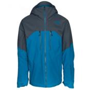 The North Face Powder Guide Mens Insulated Ski Jacket, Brilliant Blue-Turbulence Grey, medium