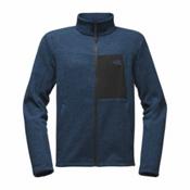 The North Face Solmore Fleece Mens Jacket, Shady Blue Dark Heather, medium