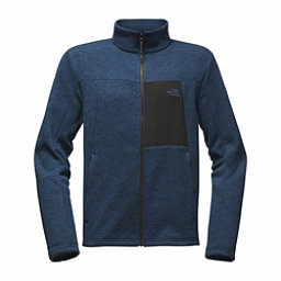 The North Face Solmore Fleece Mens Jacket, Shady Blue Dark Heather, 256