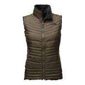 The North Face Mossbud Swirl Womens Vest, New Taupe Green-TNF Black, medium