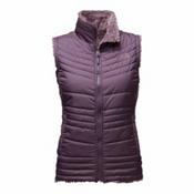 The North Face Mossbud Swirl Womens Vest, Dark Eggplant Purple-Black Plu, medium