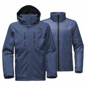 The North Face Clement Triclimate Mens Insulated Ski Jacket, Shady Blue, medium