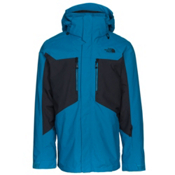 The North Face Clement Triclimate Mens Insulated Ski Jacket, Brilliant Blue-TNF Black, medium