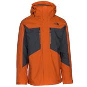 The North Face Clement Triclimate Mens Insulated Ski Jacket, Hawaiian Sunset Orange-Asphalt, medium
