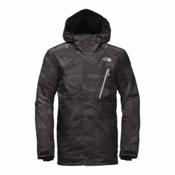 The North Face Descendit Mens Insulated Ski Jacket, Asphalt Grey Woodchip Camo Pri, medium
