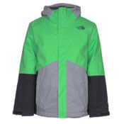 The North Face Boundary Triclimate Boys Ski Jacket, Krypton Green, medium