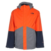 The North Face Boundary Triclimate Boys Ski Jacket, Power Orange, medium