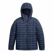 The North Face ThermoBall Hoodie Kids Midlayer, Cosmic Blue Chain Print, medium