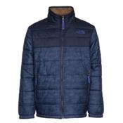 The North Face Reversible Mount Chimborazo Boys Jacket, Cosmic Blue Chain Print, medium