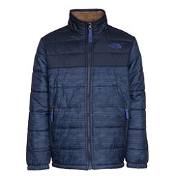 The North Face Reversible Mount Chimborazo Boys Jacket, Cosmic Blue Chain Print, 256