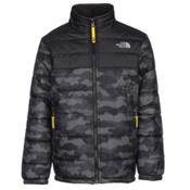 The North Face Reversible Mount Chimborazo Boys Jacket, Graphite Grey Camo Heather Pri, medium