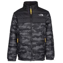 The North Face Reversible Mount Chimborazo Boys Jacket, Graphite Grey Camo Heather Pri, 256