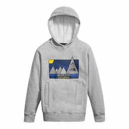 The North Face Logowear Pullover Kids Hoodie, TNF Light Grey Heather, 256