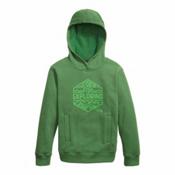 The North Face Logowear Pullover Kids Hoodie, Sullivan Green, medium
