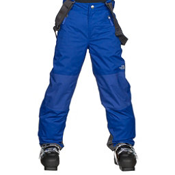 The North Face Snowquest Suspender Kids Ski Pants, Bright Cobalt Blue, 256