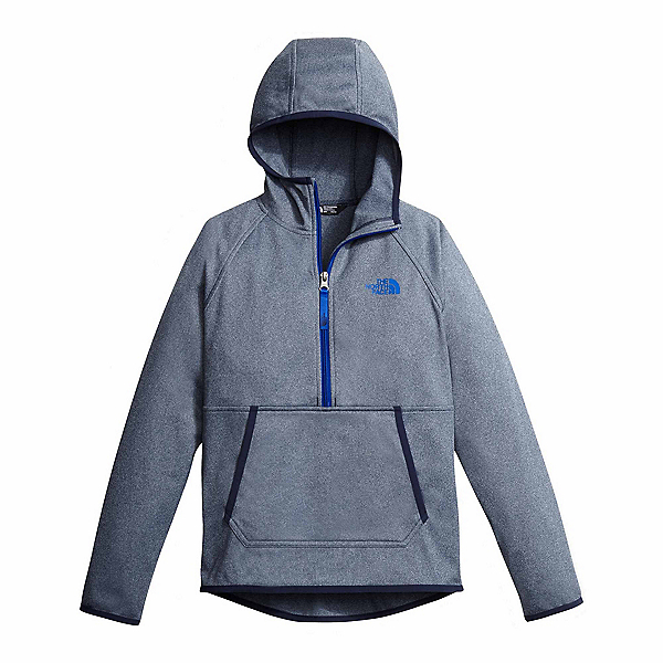 The North Face Tech Glacier 1/4 Zip Kids Midlayer, Cosmic Blue Heather, 600