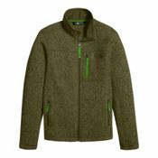 The North Face Gordon Lyons Full Zip Boys Jacket, Burnt Olive Green Heather, medium