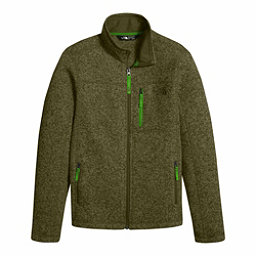 The North Face Gordon Lyons Full Zip Boys Jacket, Burnt Olive Green Heather, 256